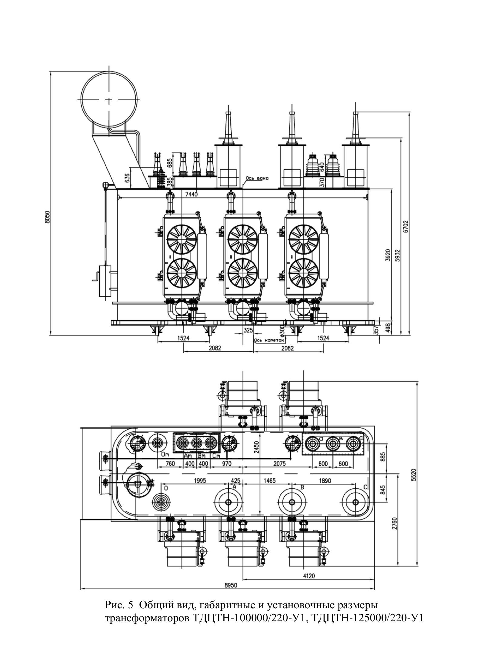 Трансформаторы трехфазные трехобмоточные масляные класса напряжения 220 кВ тип ТДЦТН