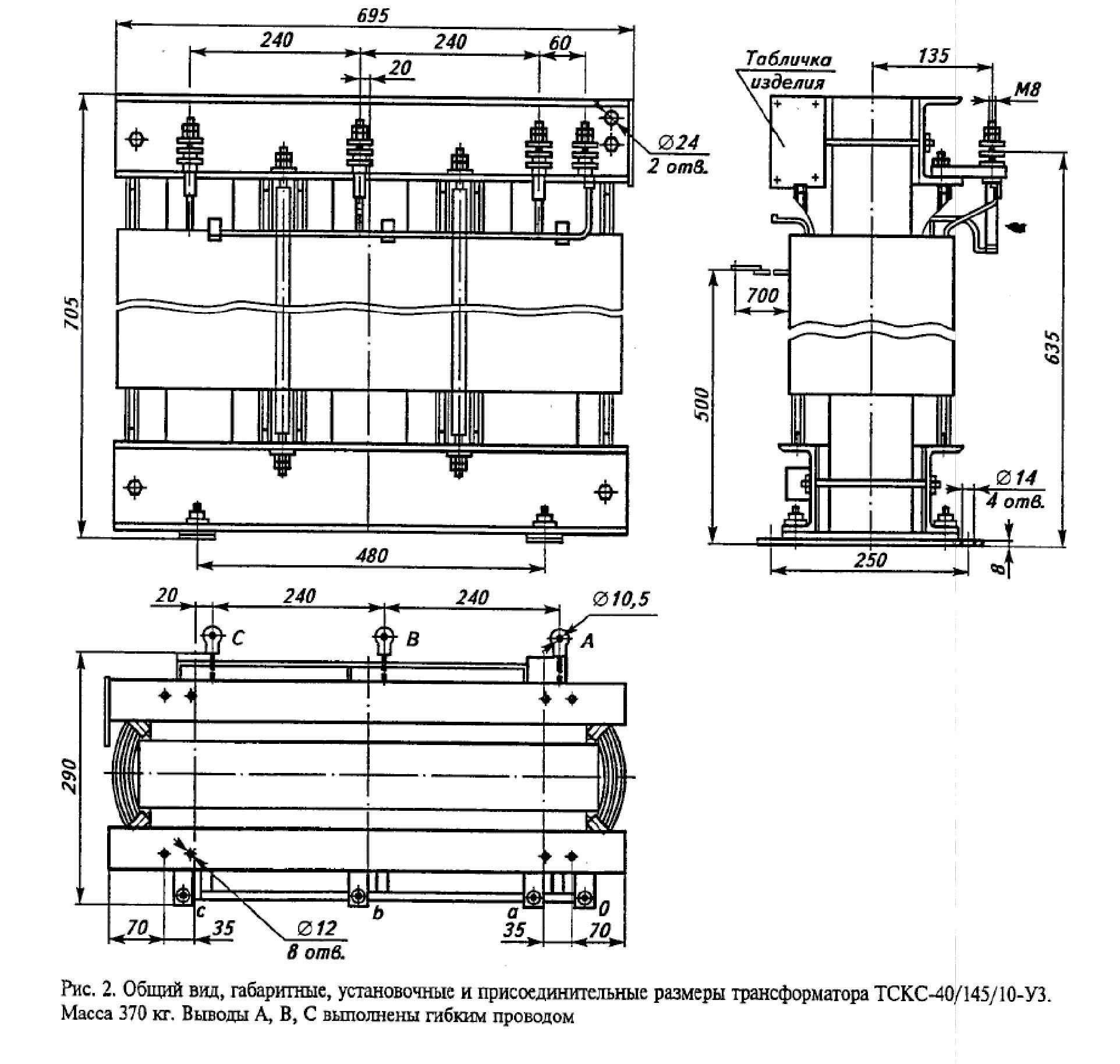 Трехфазный сухой трансформатор для шкафов КРУ класса напряжения 6-10кВ тип ТСКС