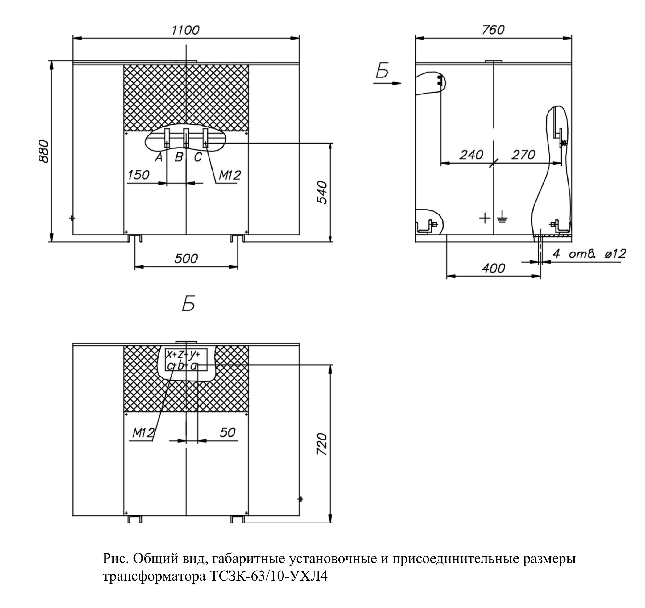 Сухие трехфазные трансформаторы для метрополитена тип ТСЗК