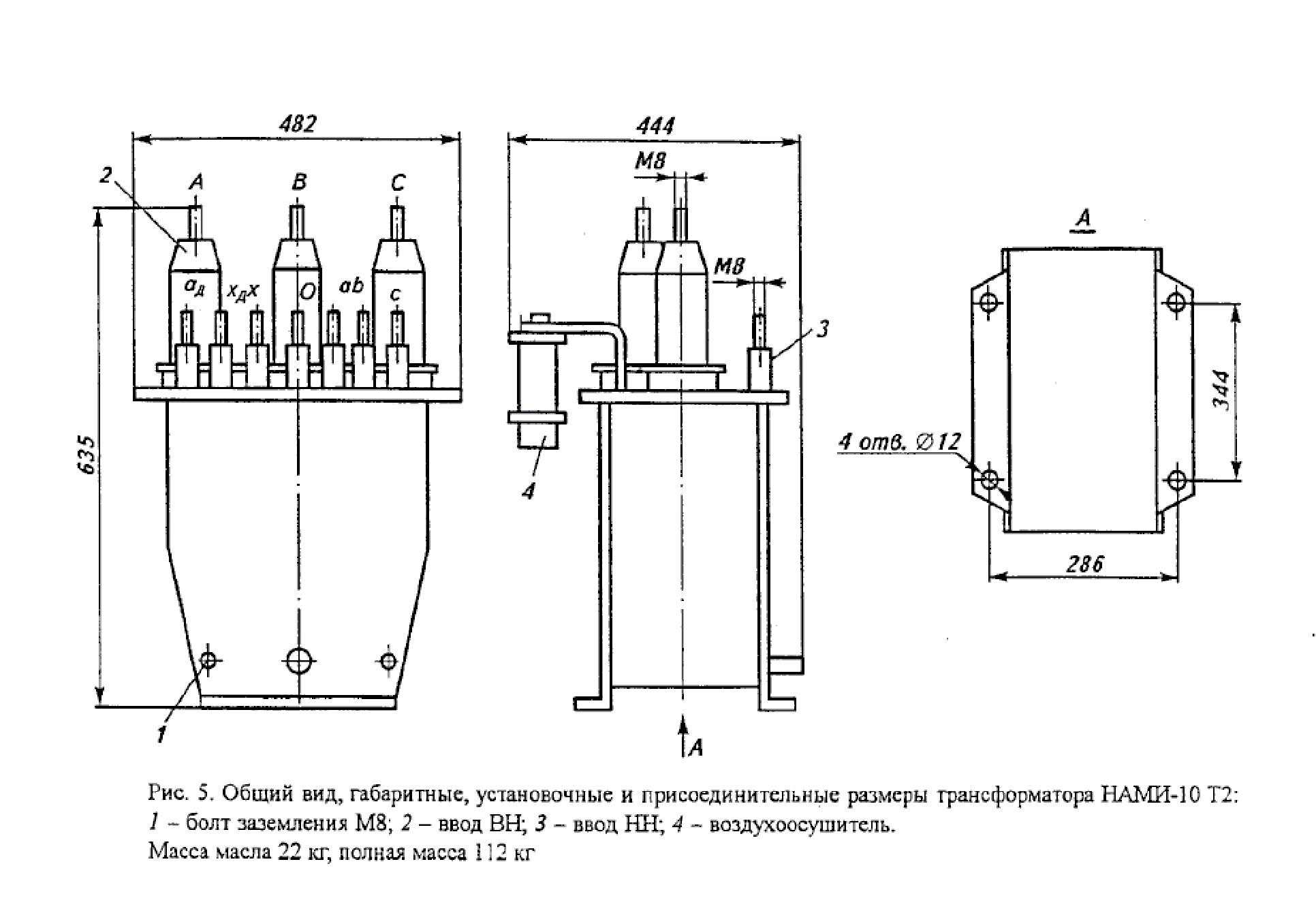 Антирезонансный трехобмоточный трехфазный трансформатор серии НАМИ