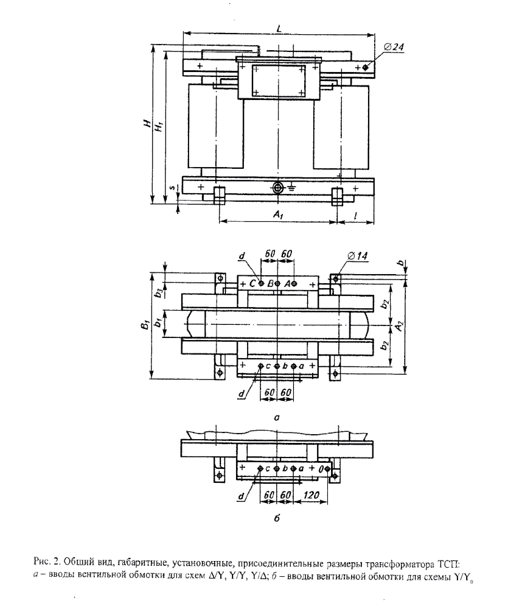 Сухой трехфазный трансформатор ТСП