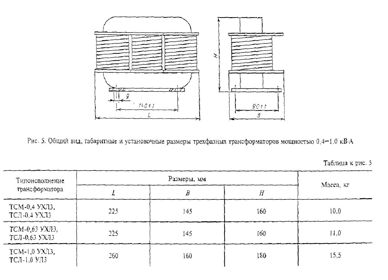 Трехфазный трансформатор серии ТСЛ