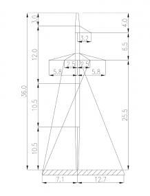 Промежуточные опоры ЛЭП-220 кВ 2П220-7
