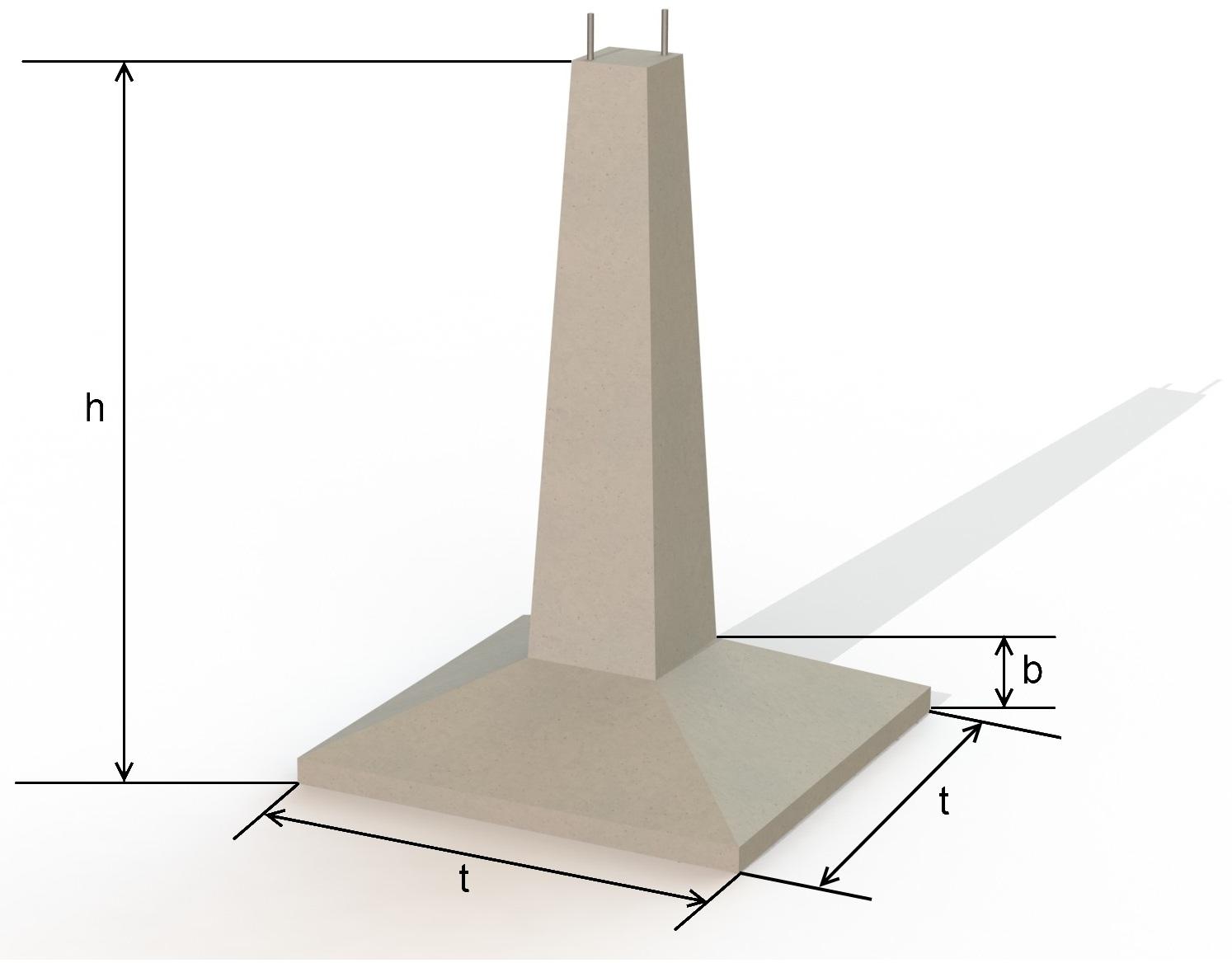 Фундамент Ф1 под опоры ЛЭП