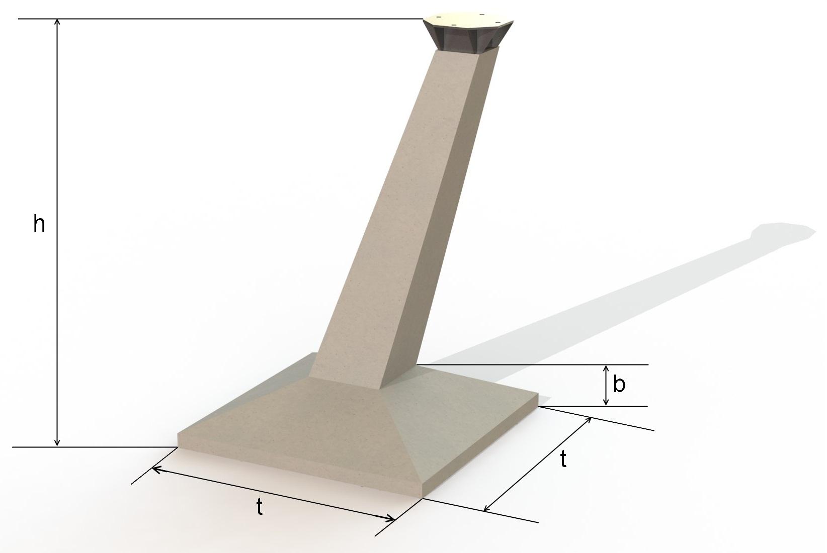 Фундамент с модифицированным оголовником
