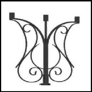 Кронштейн декоративный стальной