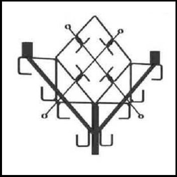 Кронштейн декоративный стальной многорожковый