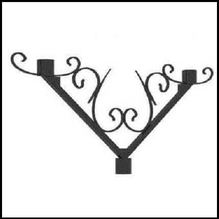 Декоративный стальной кронштейн